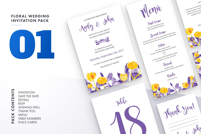 Floral Wedding Invitation Bundle example image 8