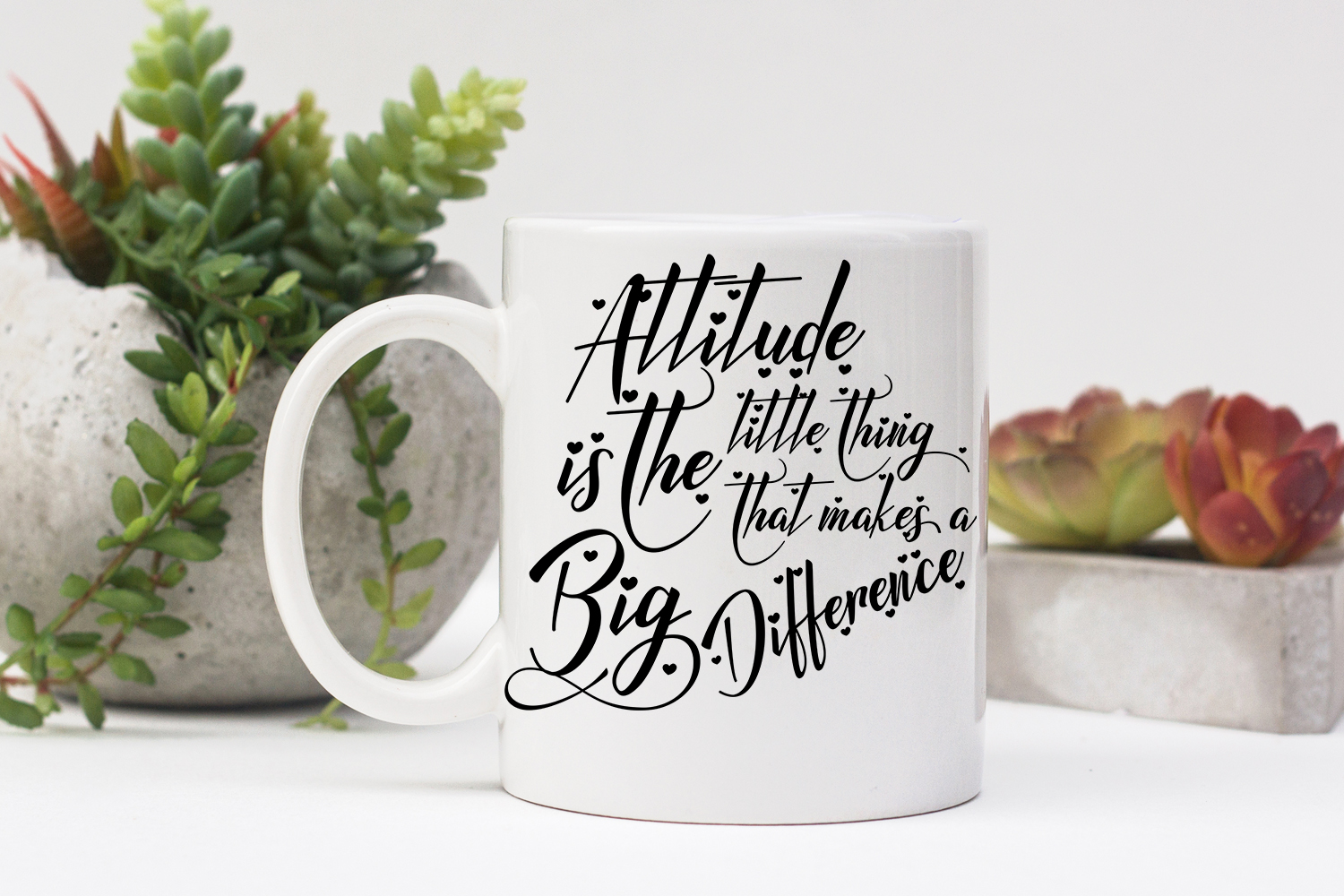 Inspirational Quote - Attitude is the Little Thing that Makes a Big Difference example image 4