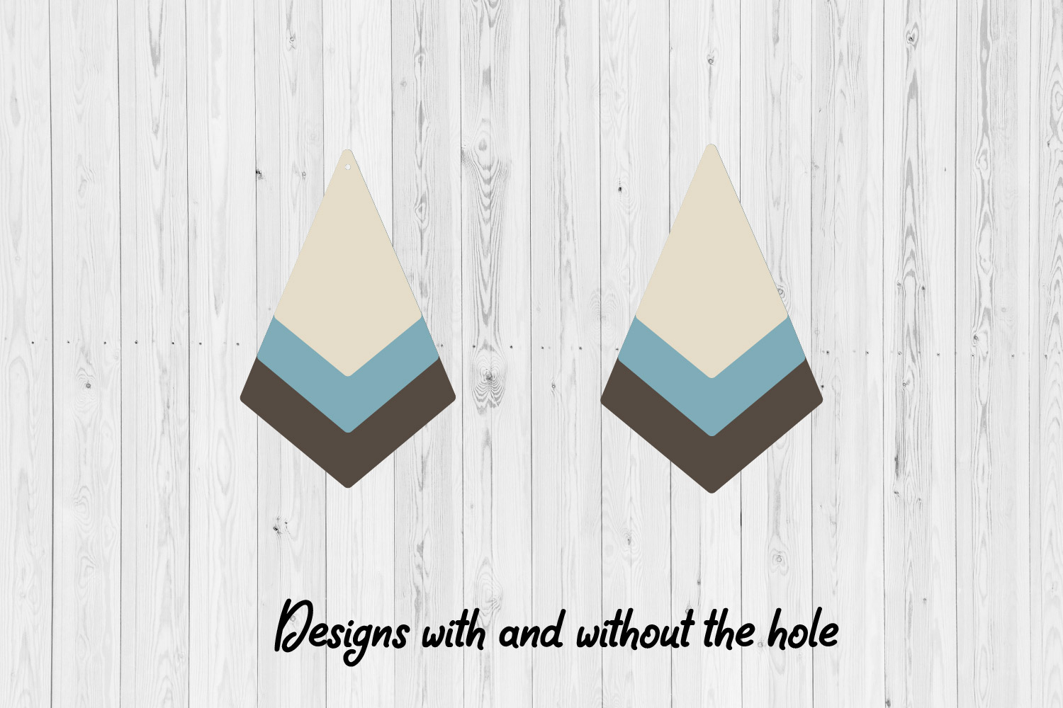 9 Stacked Geometric & Fringe Earrings | SVG cutting files | example image 2