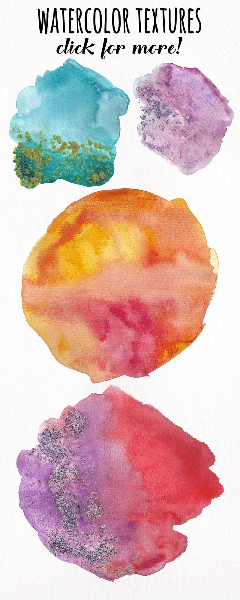 Watercolor Textures - card edition example image 2