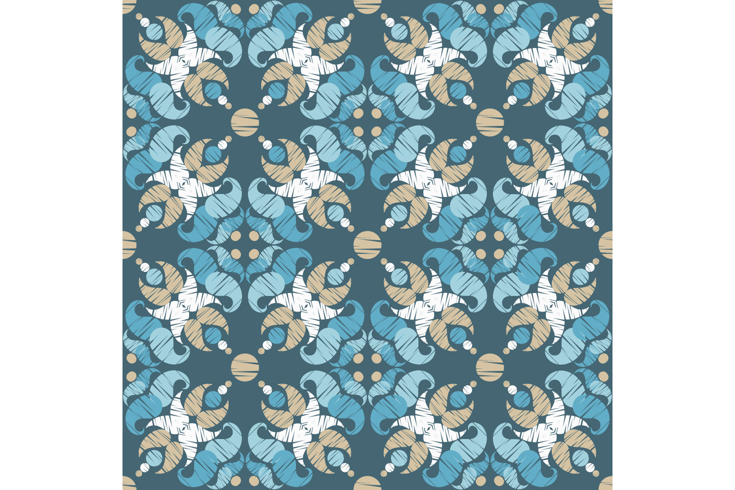 Paisley ornament. Set of 10 seamless patterns. example image 6