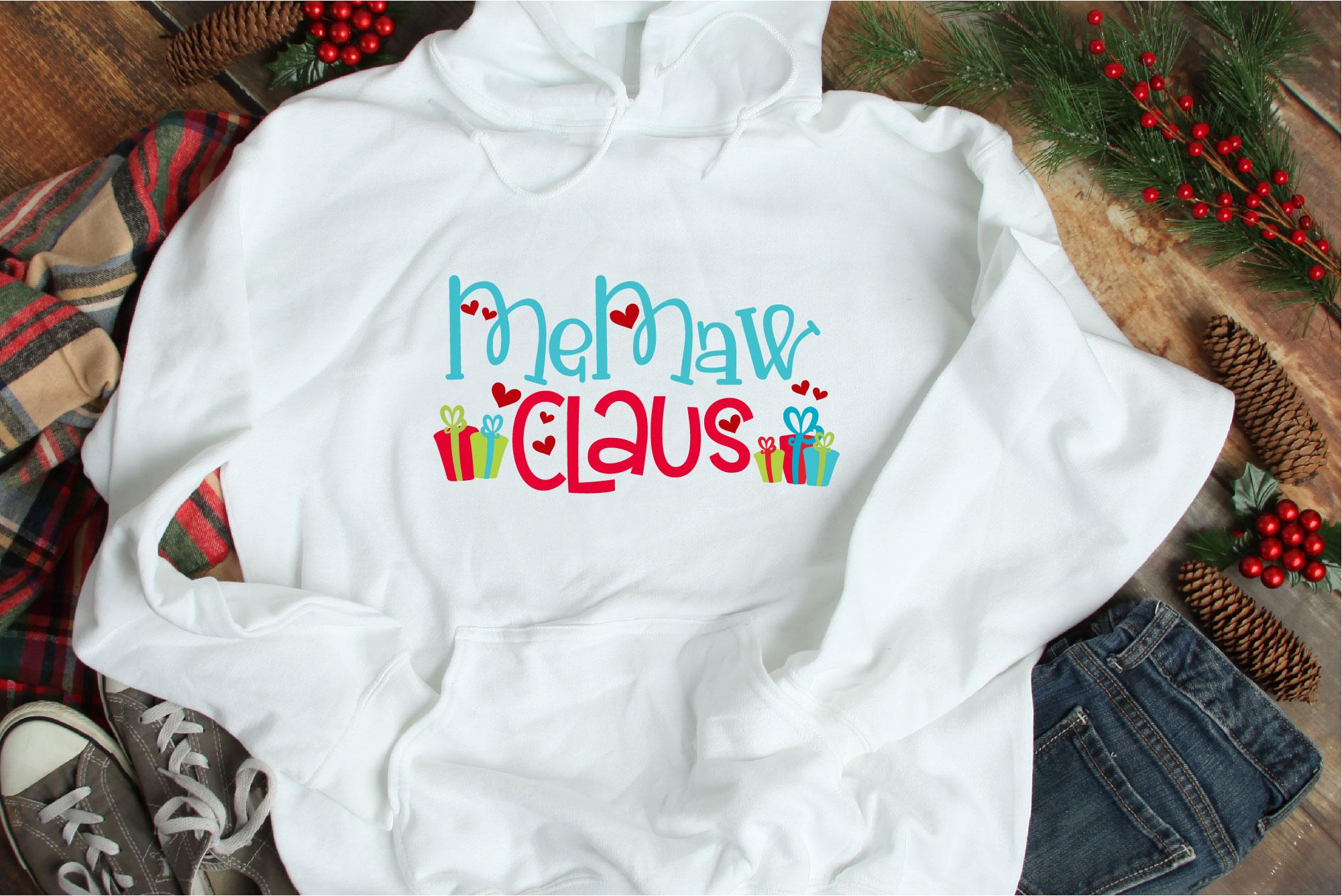 Christmas SVG, MeMaw Claus, Santa Claus Sublimation example image 1