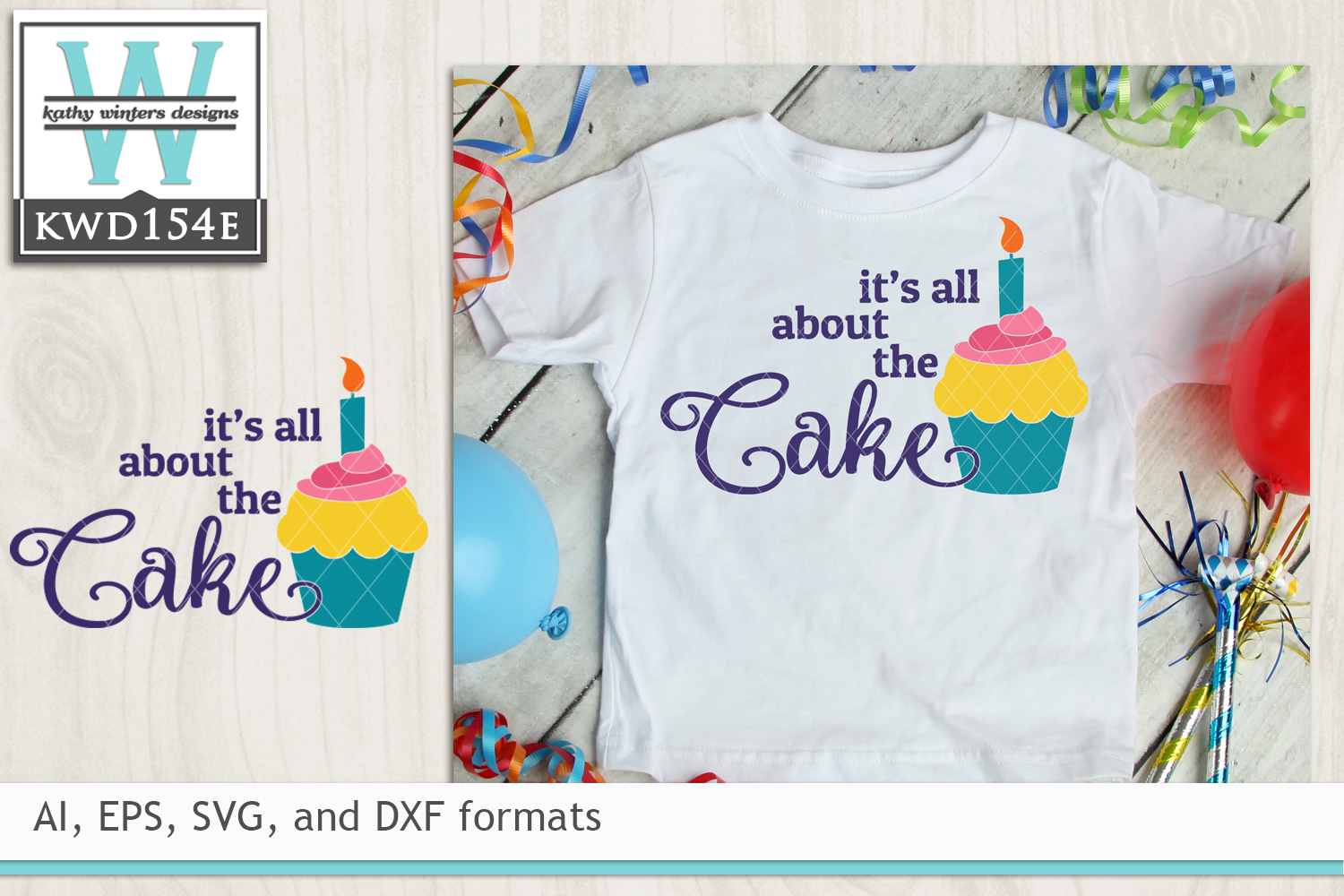 Birthday Svg It S All About The Cake 12006 Cut Files Design Bundles
