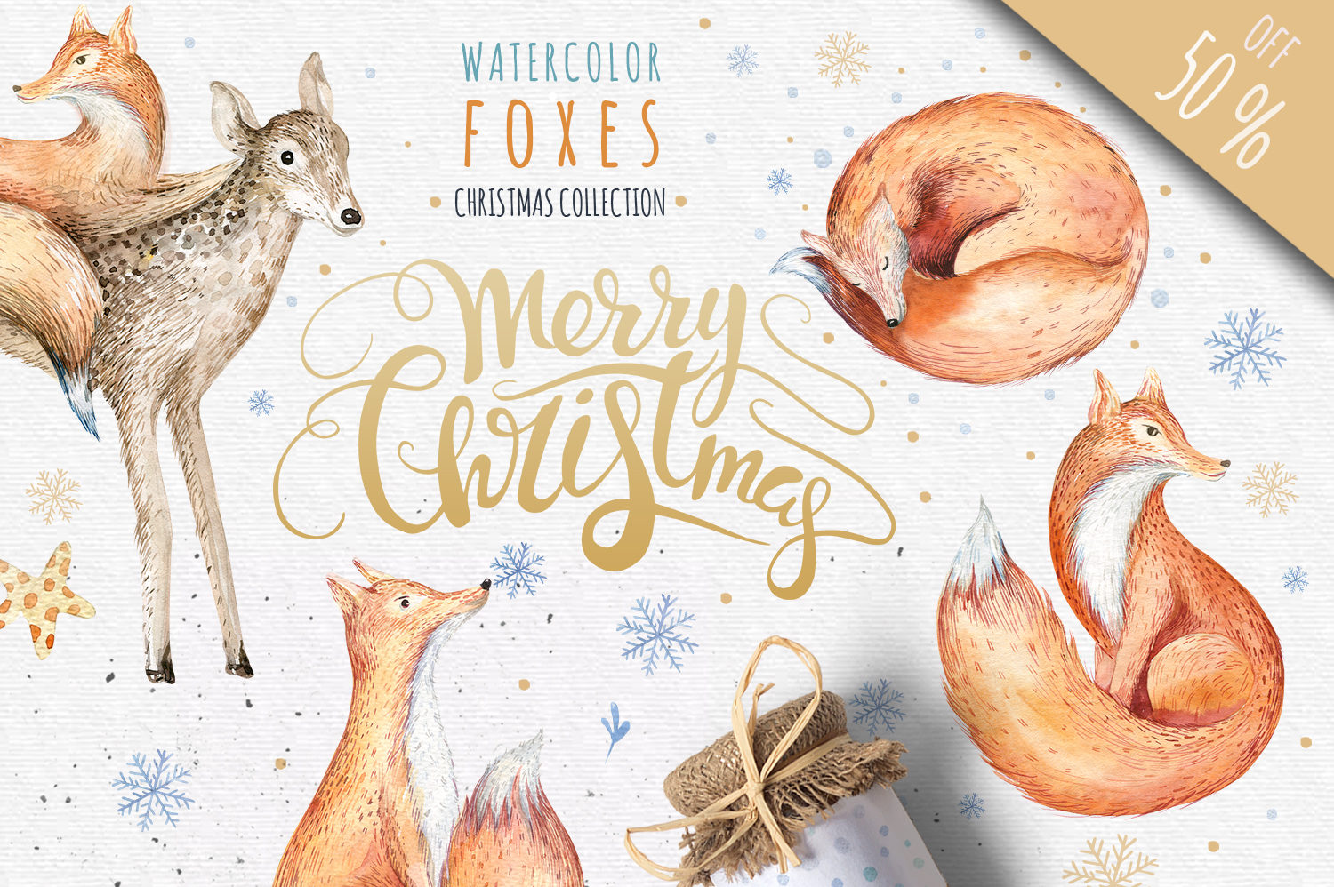 60off Watercolour Christmas BUNDLE! example image 3