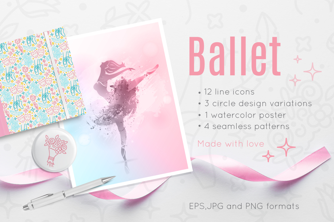 Ballet icon collection example image 1