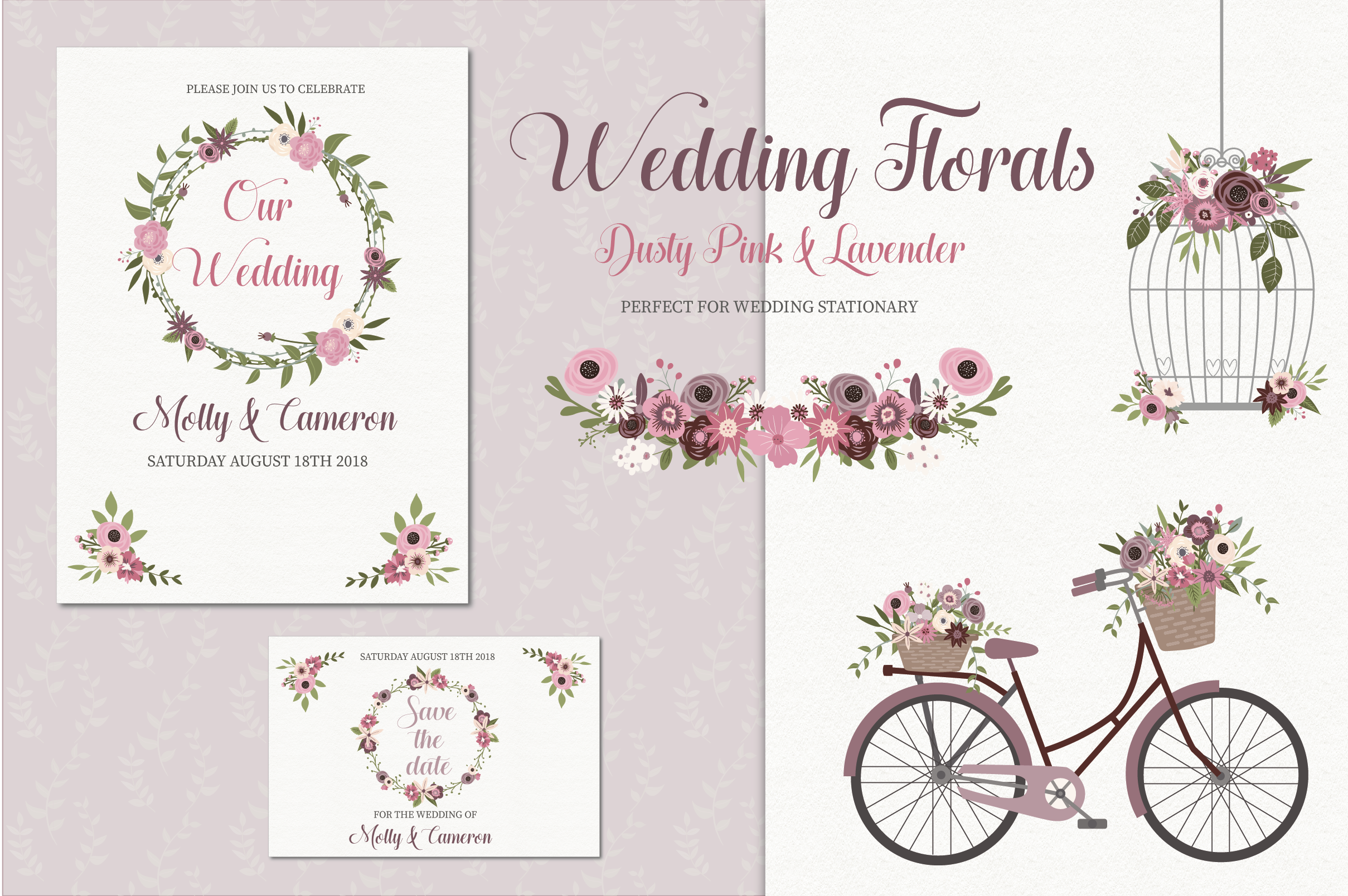 Wedding florals clipart example image 1