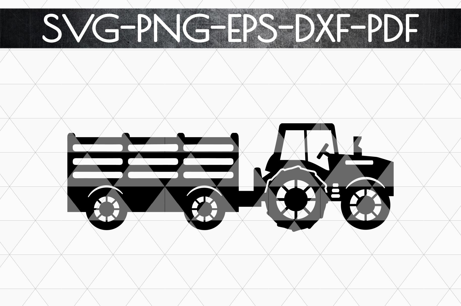 Farm Tractor Papercut Template, Farmhouse Decor, PDF, SVG example image 4