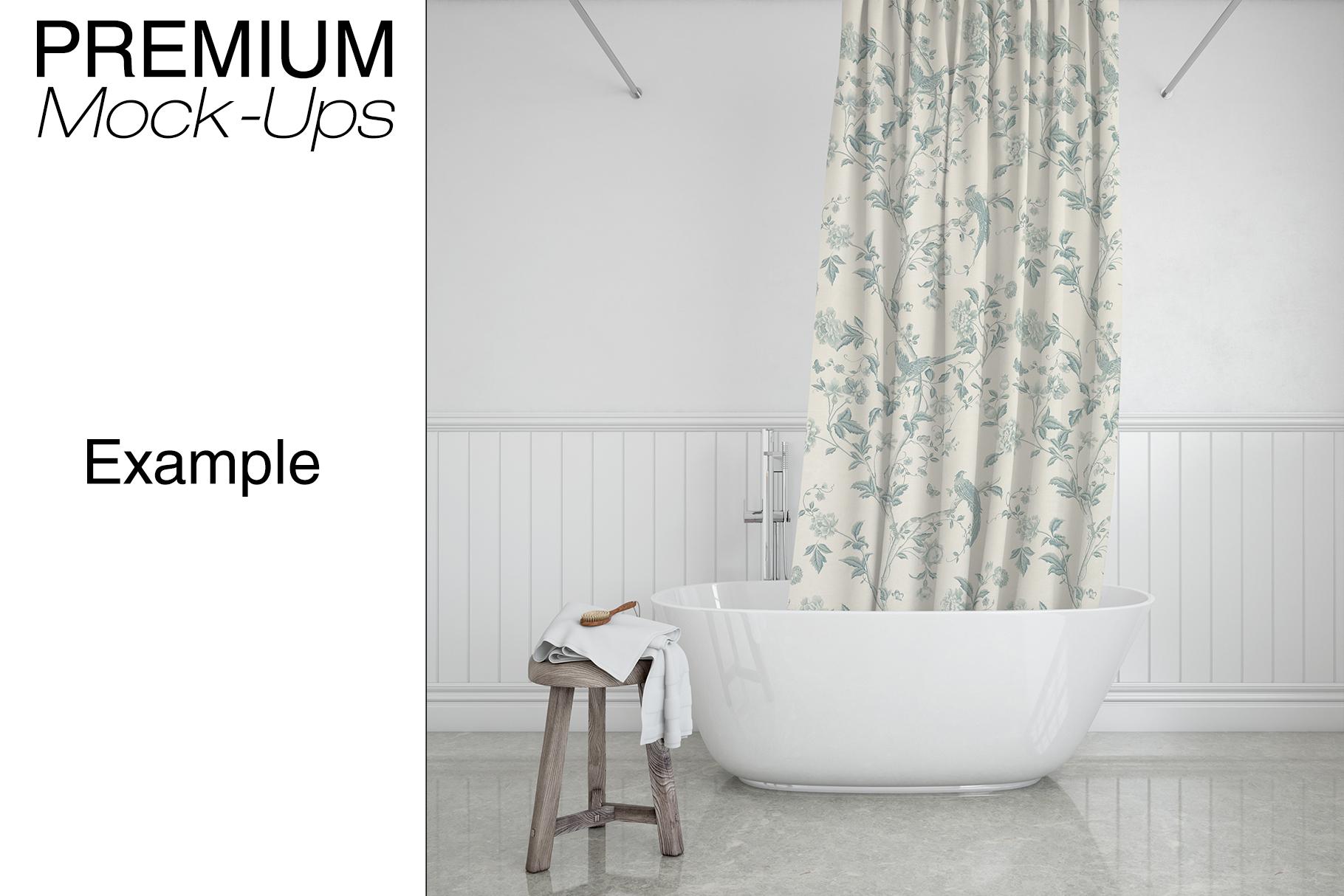 Bath Curtain Mockup Pack example image 4