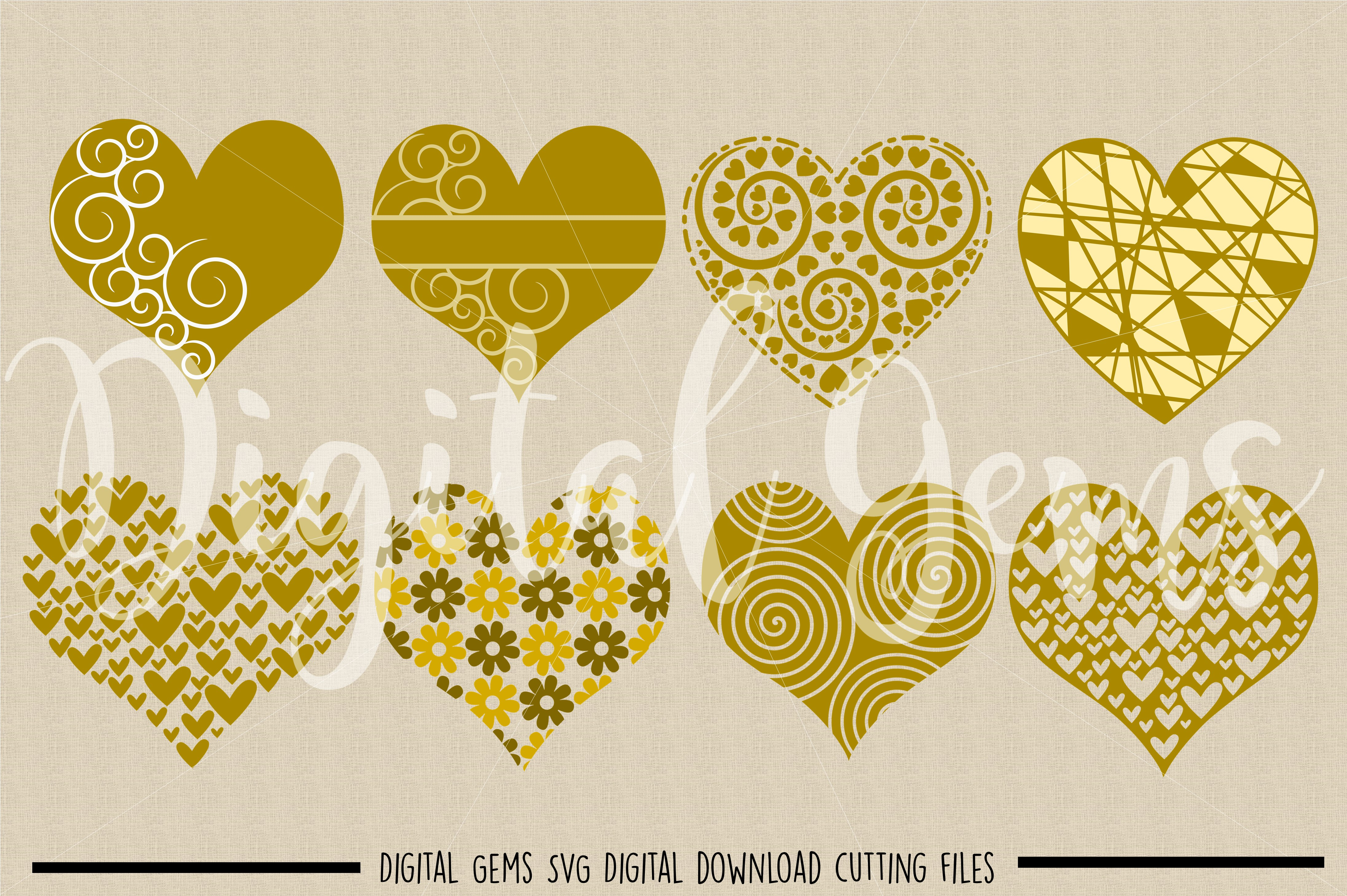 Hearts SVG / PNG / EPS / DXF files example image 2