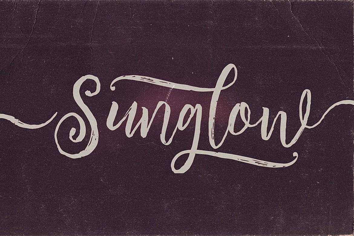 Sunglow Font Duo example image 5
