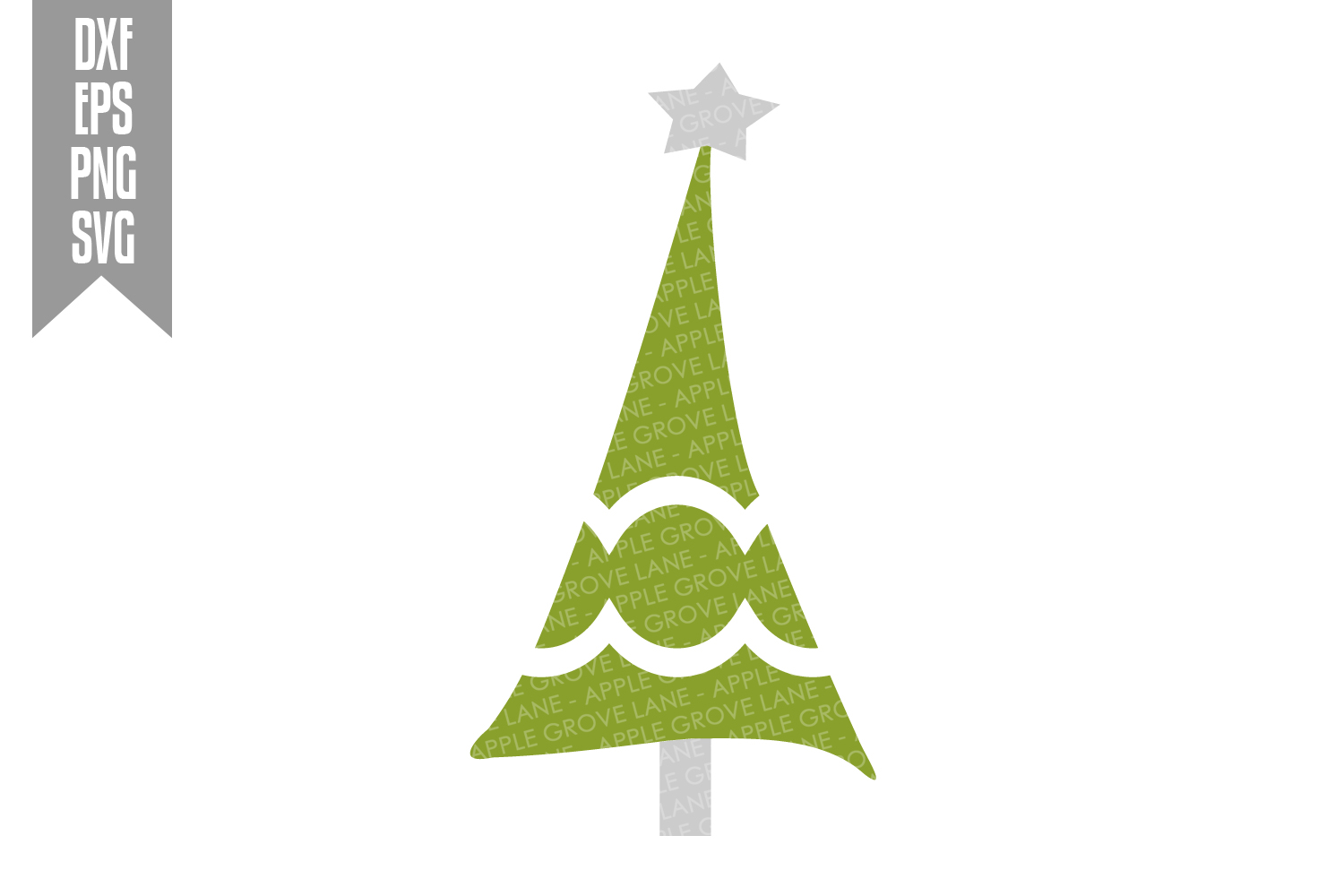 Christmas Tree Svg Bundle - 6 designs included - Svg File example image 5