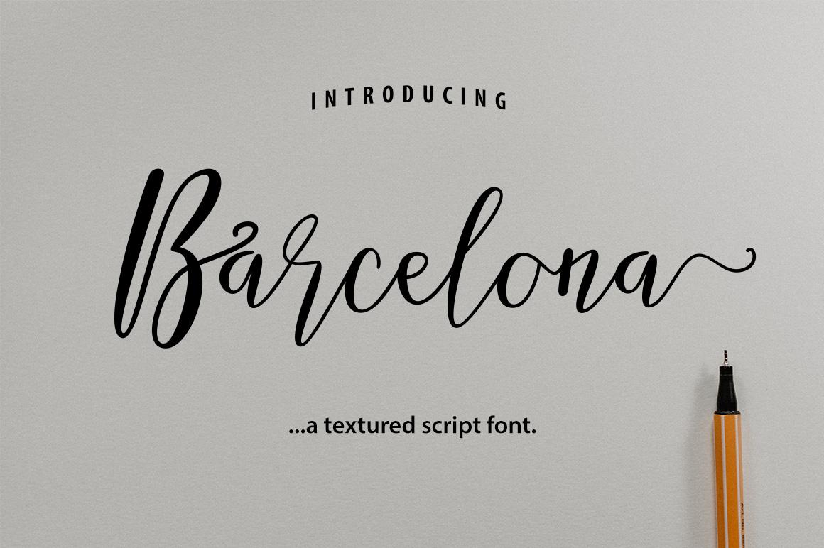 Barcelona Script example image 1