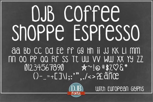 DJB Coffee Shoppe Font Bundle example image 5