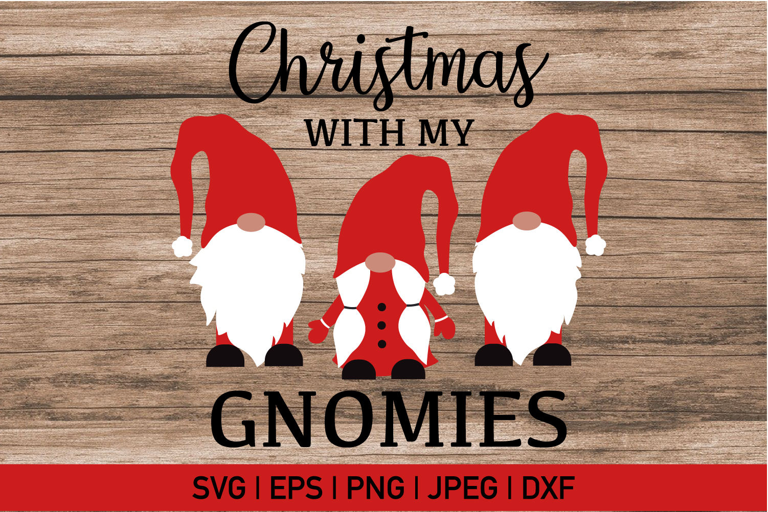 Christmas With My Gnomies Svg example image 2