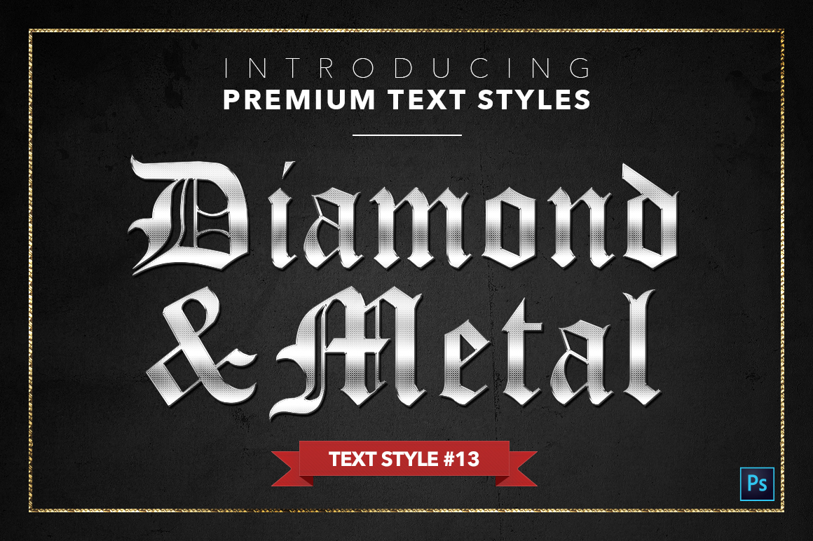 Diamond & Metal #1 - 15 Text Styles example image 14