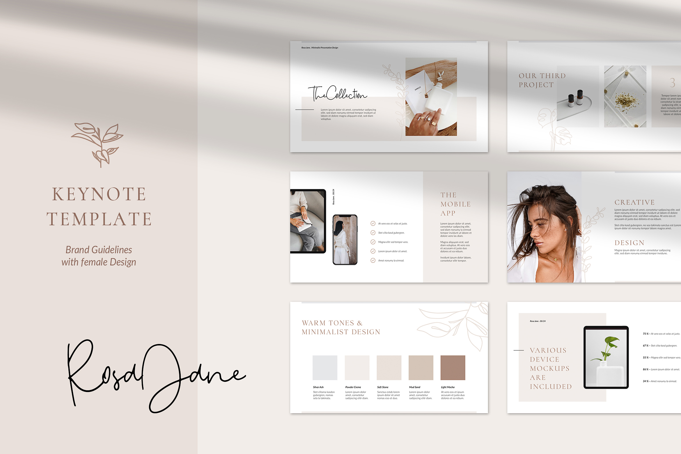 Rosa Jane Keynote Template example image 1