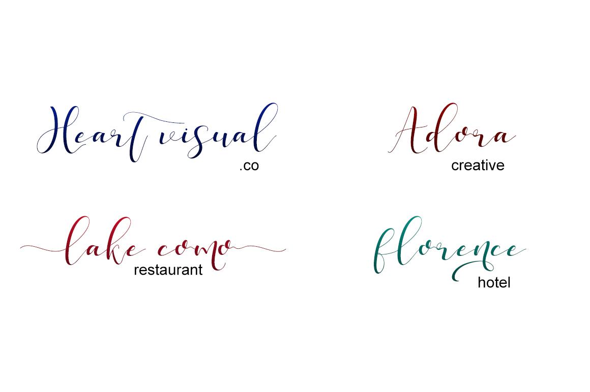 phoenix sweet calligraphy modern example image 6
