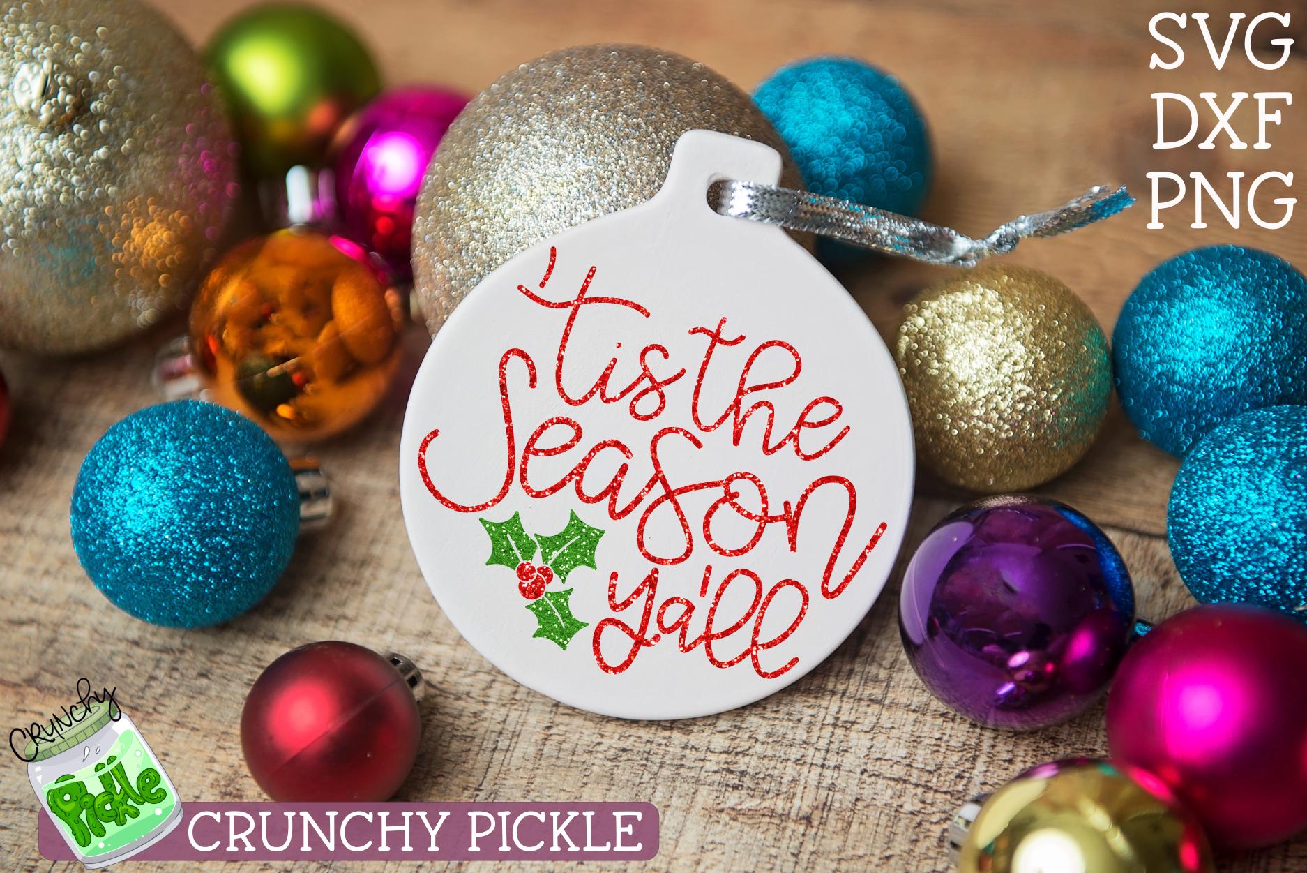 Tis the Season Ya'll Christmas SVG example image 1