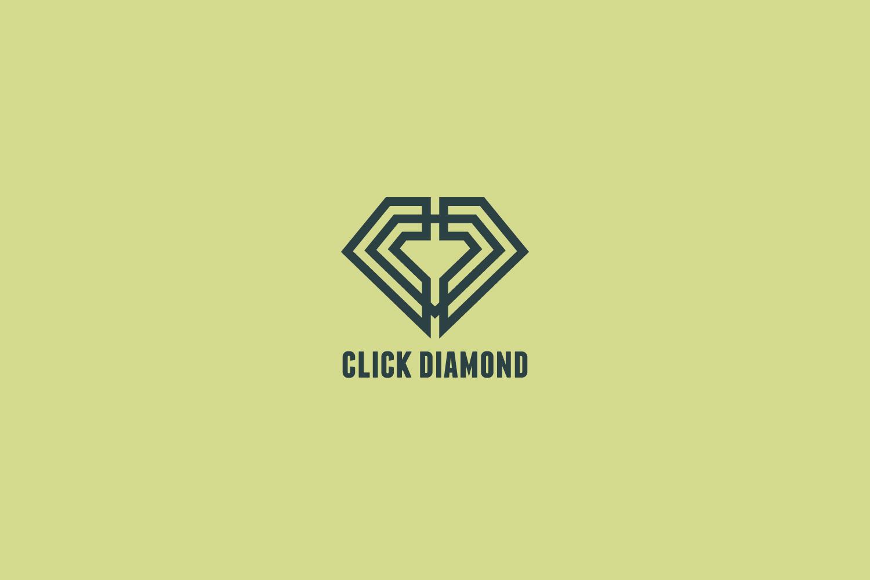 Click Diamond Logo Template example image 4