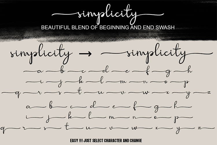 Simplicity Handwritten Font example image 9