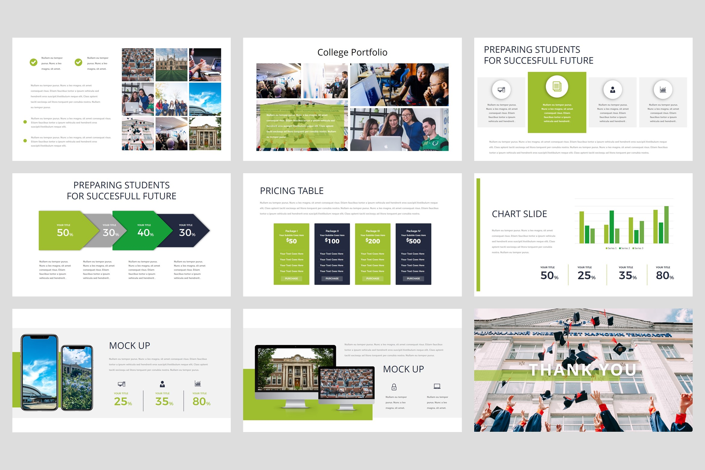 College - University PowerPoint Template example image 5