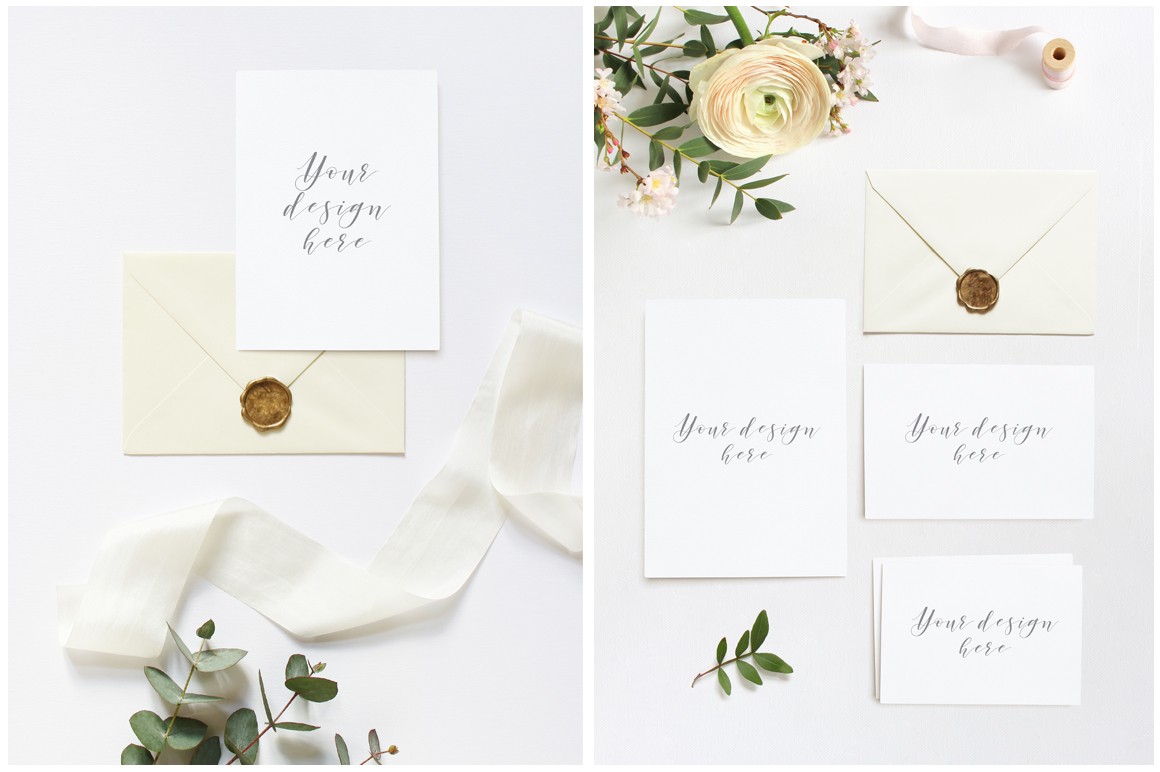 Spring Wedding mockups  & stock photo bundle example image 2