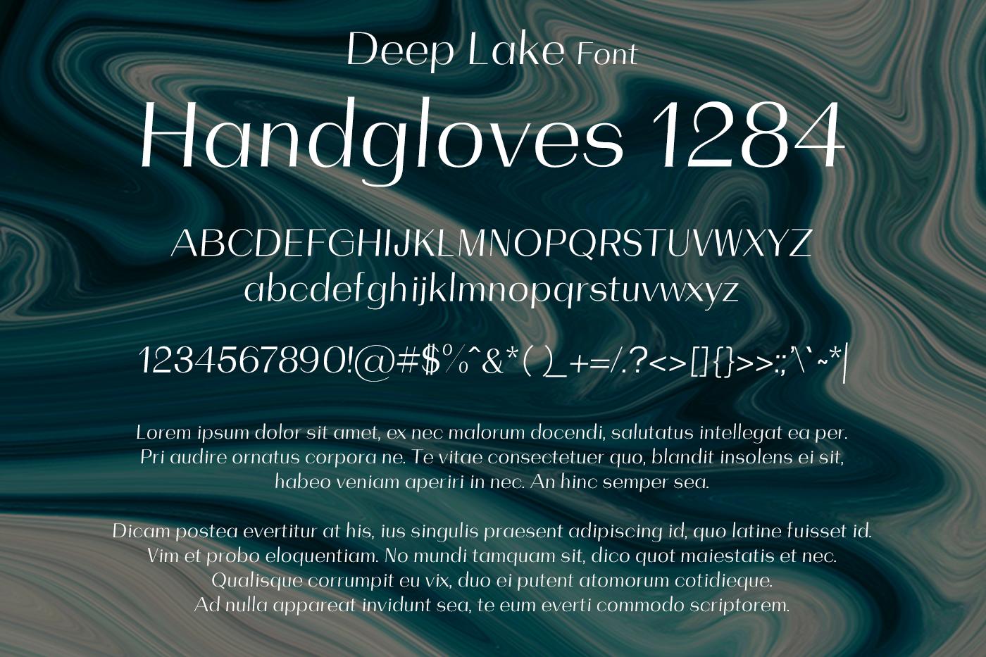 Deep Lake Font example image 2