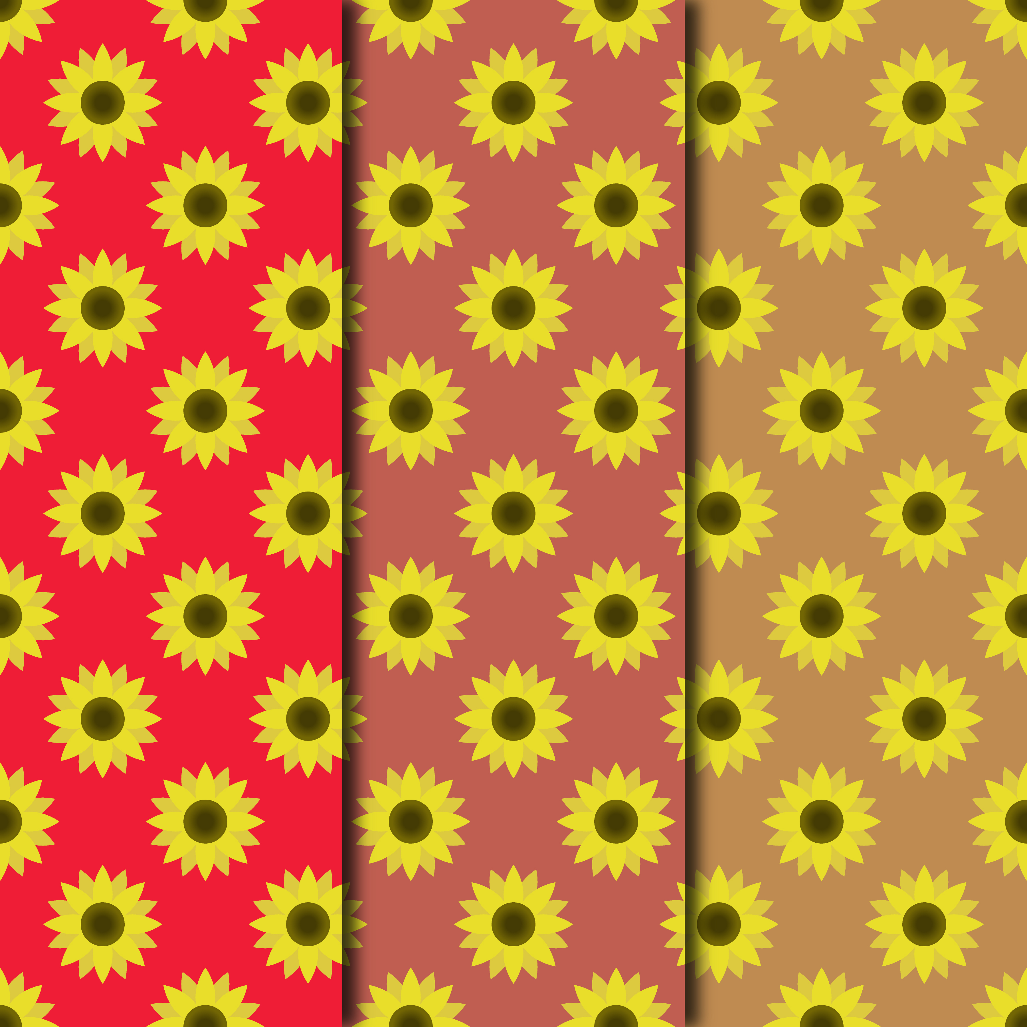 Blooming Sunflowers Digital Paper example image 5