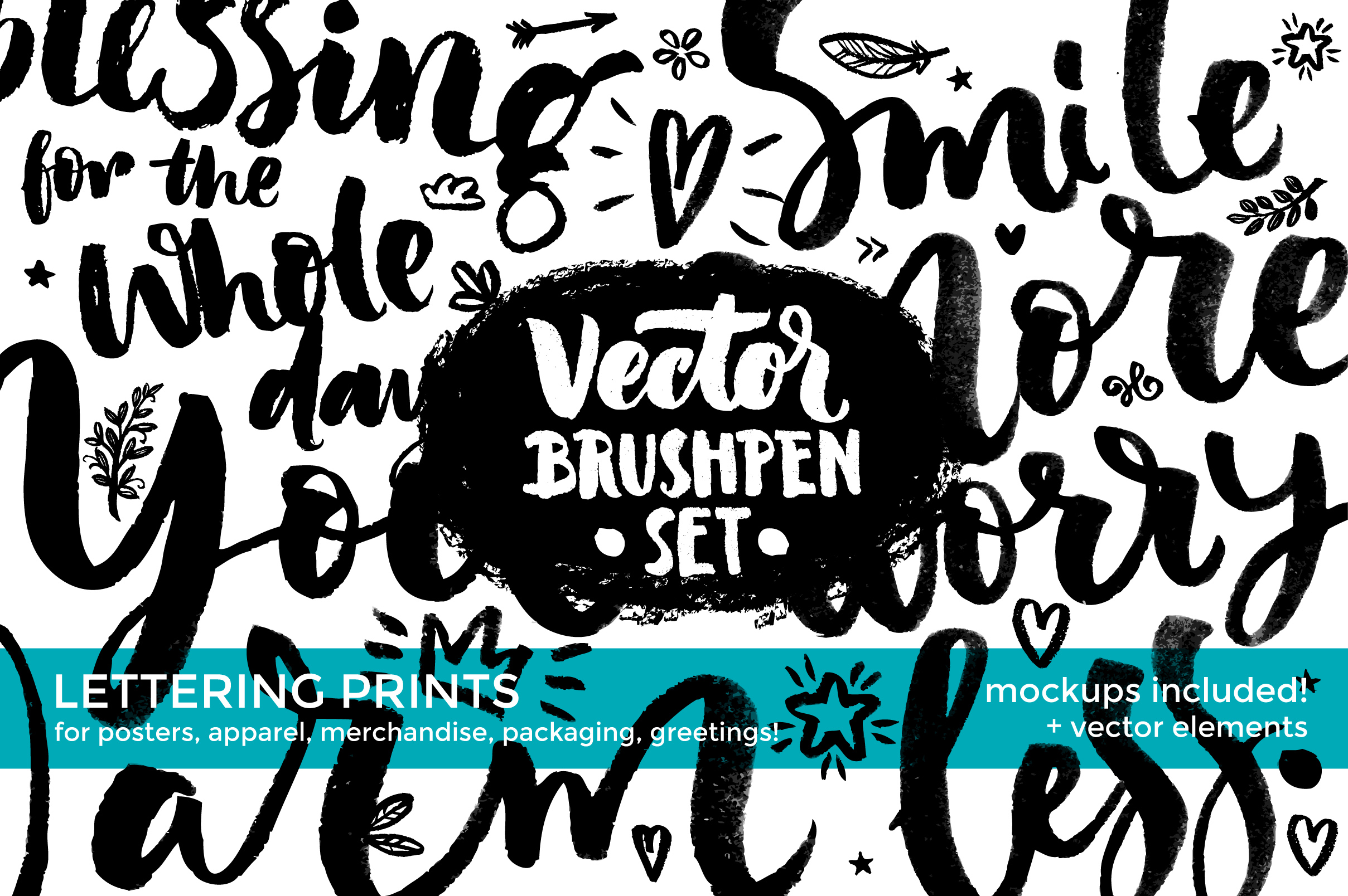 Vector Brushpen Set example image 1