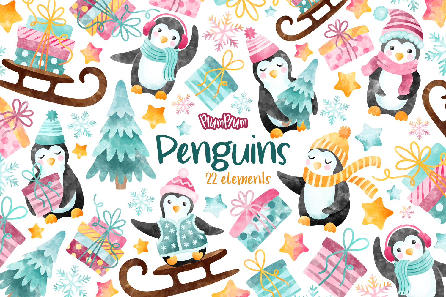 Winter Clipart Bundle example image 3