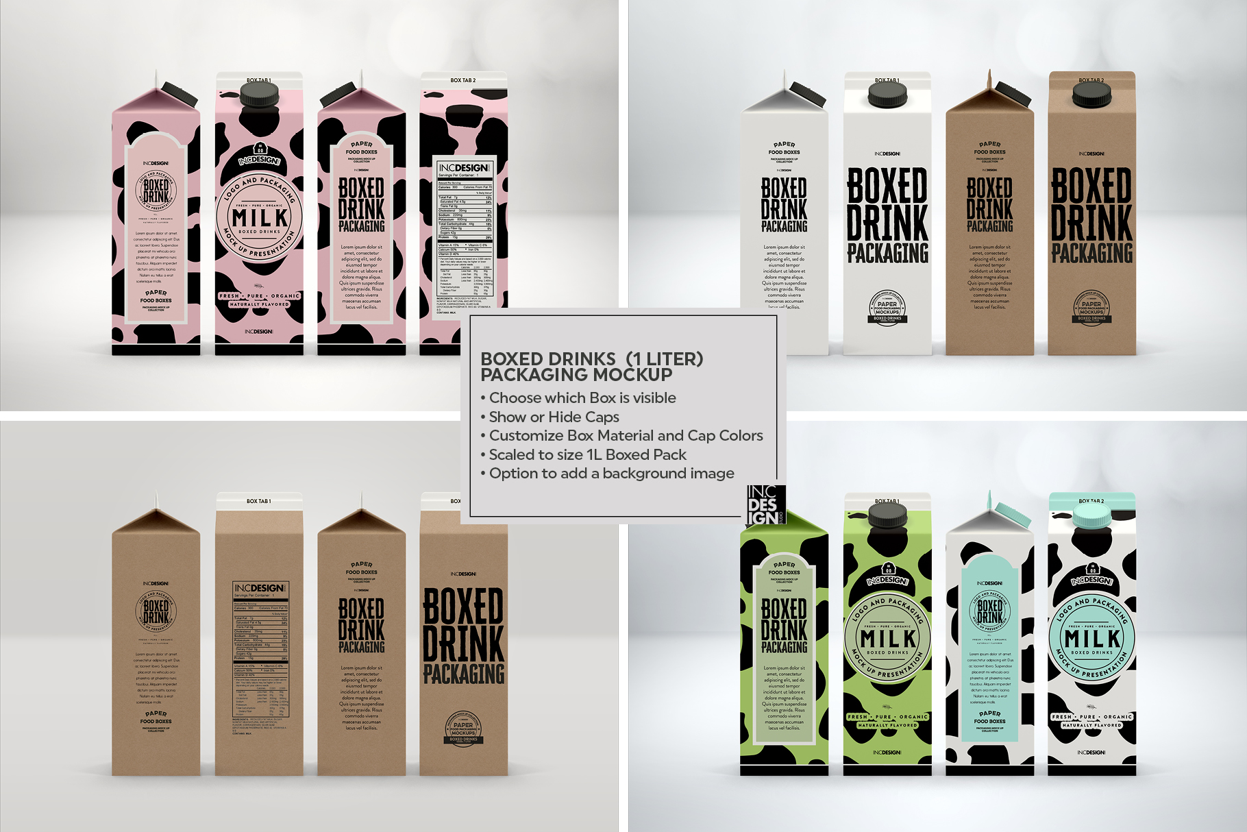 Boxed Drink Liquid Packaging Mockups example image 6