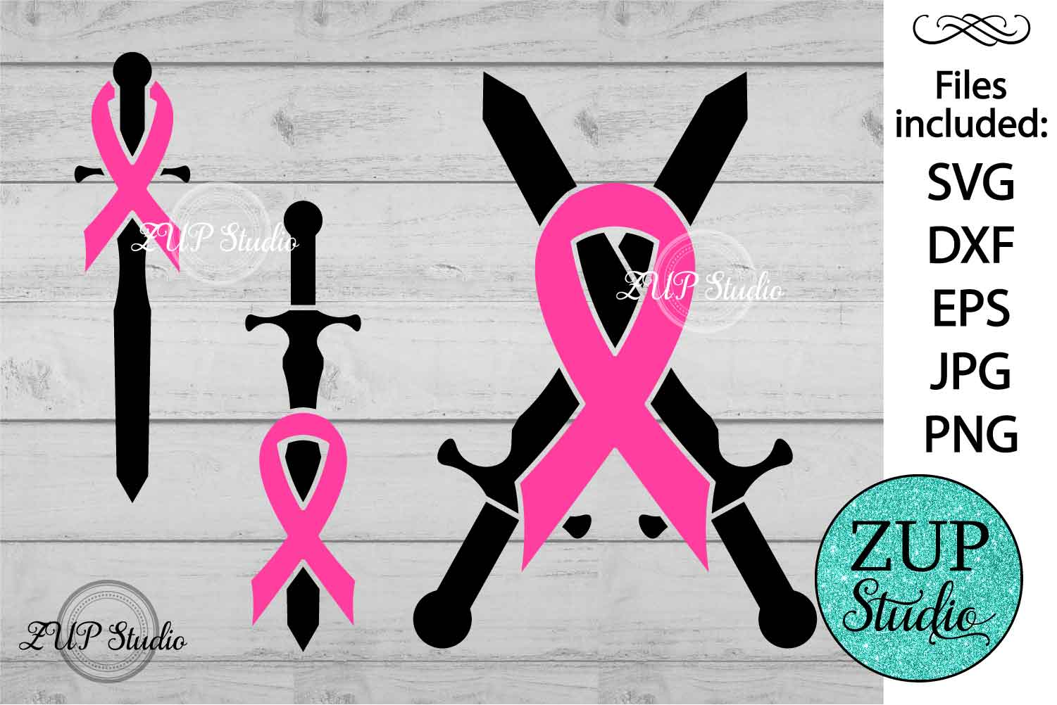Breast Cancer Ribbon cutting files svg 9 example image 1