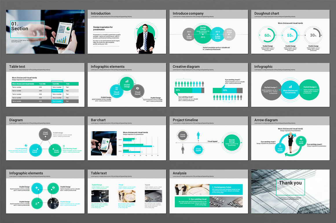 Finance Theme PowerPoint Template example image 3