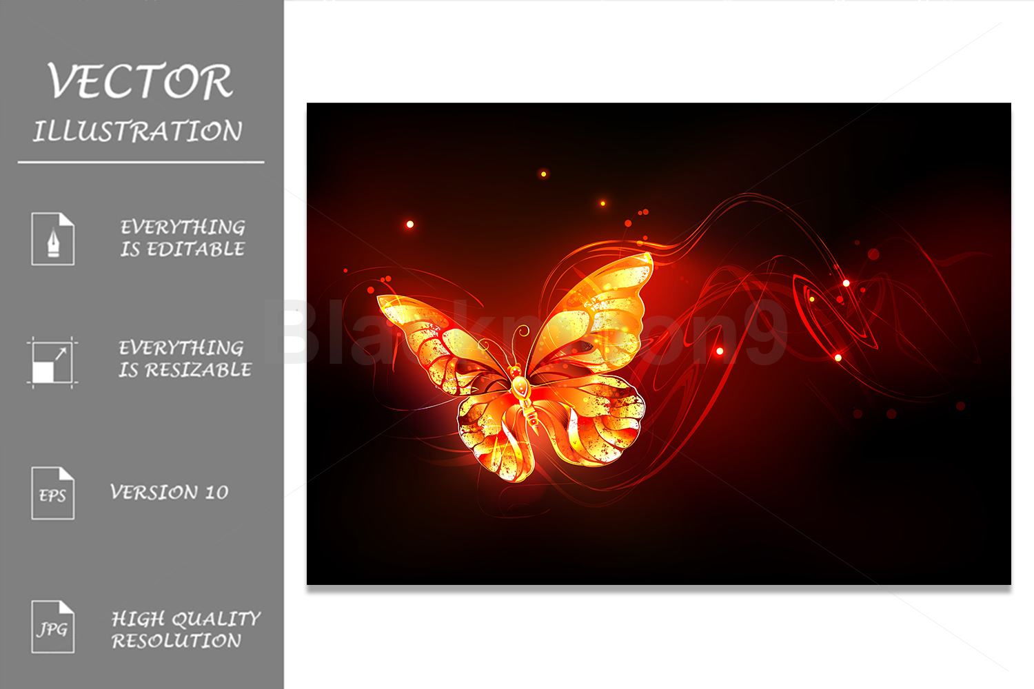 Flying Fire Butterfly example image 1