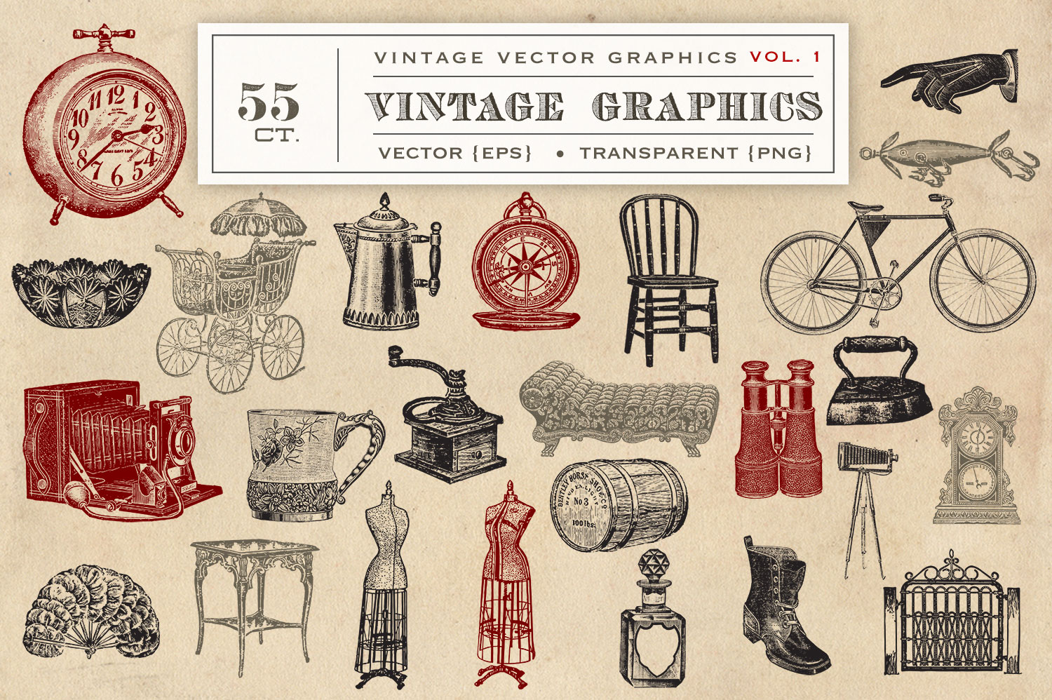 55 Vintage Vector Graphics example image 2