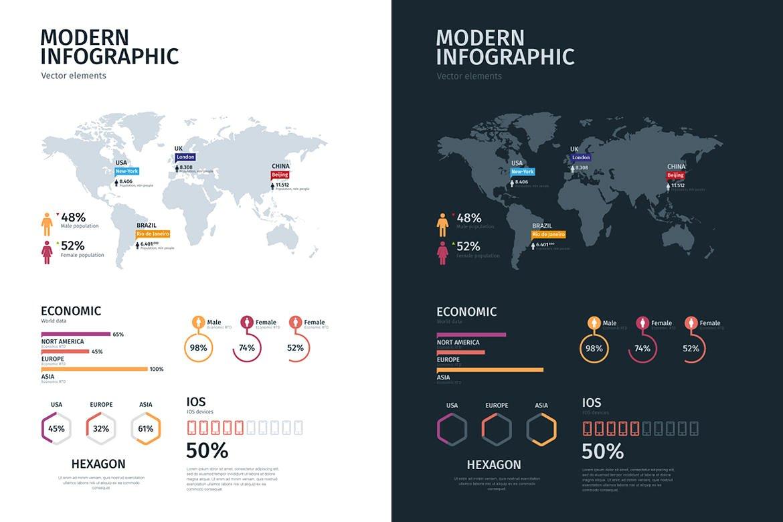 Modern infographics vol.01 example image 6