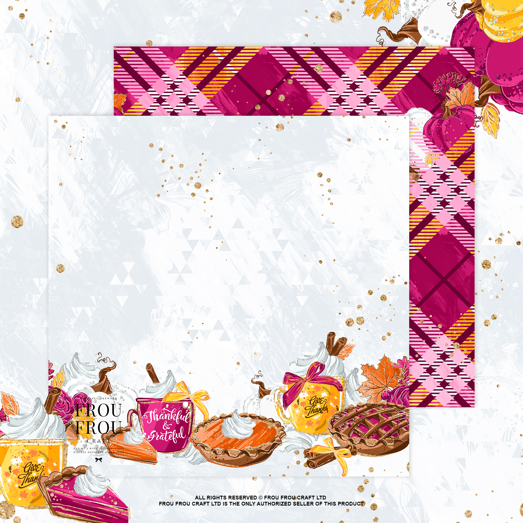Sweets Cake Pumpkin Pie Fall Autumn Paper Pack example image 9