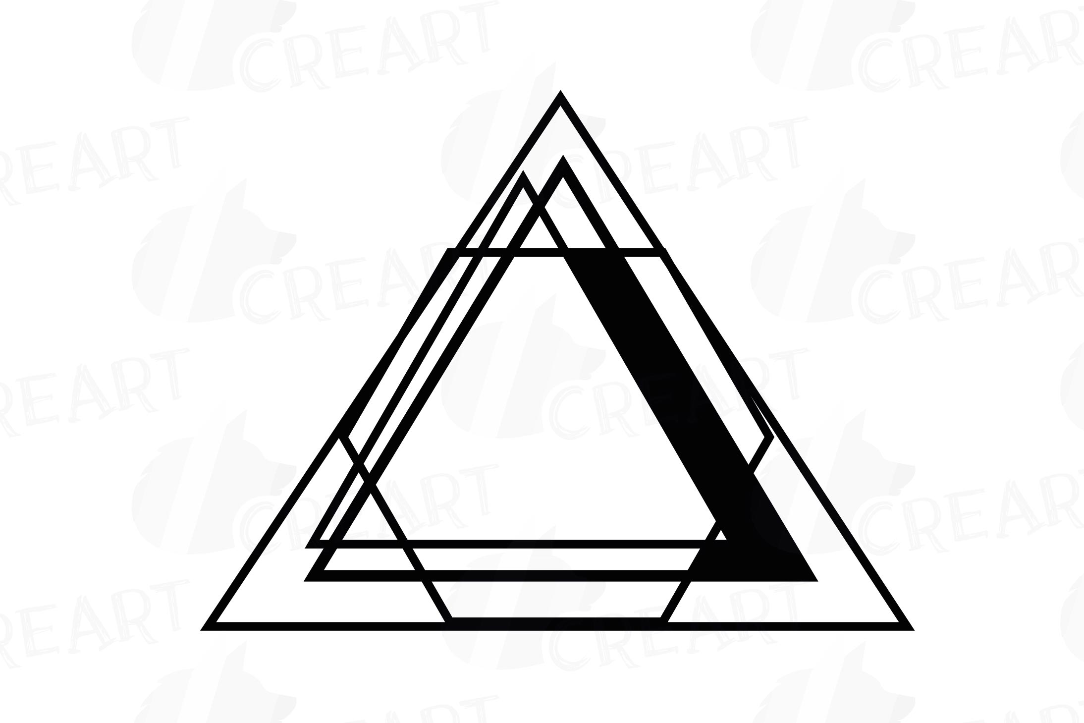 Chaotic geometric black frames, lineal frames clip art example image 14