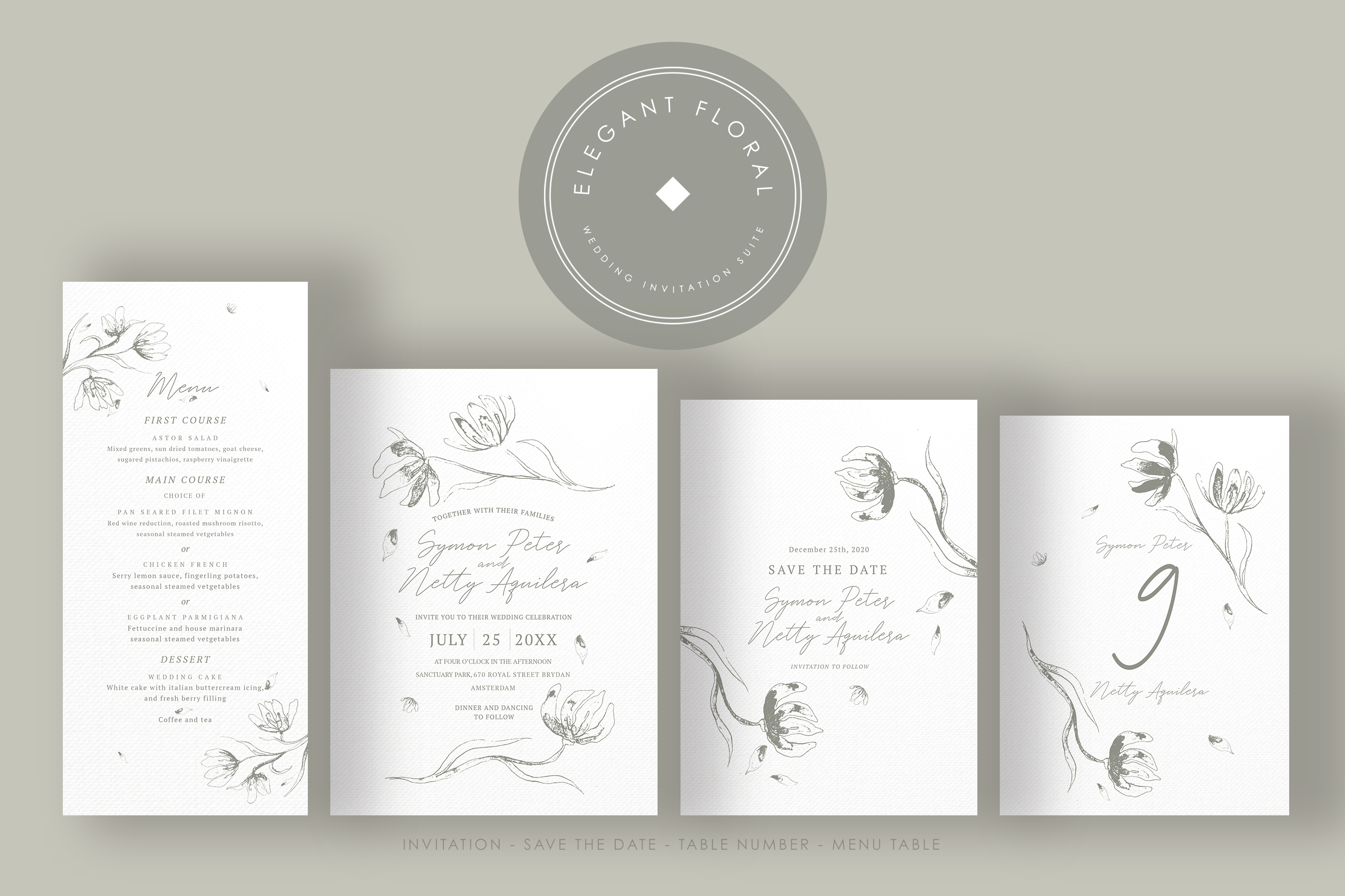 Elegant Floral Wedding Suite example image 5