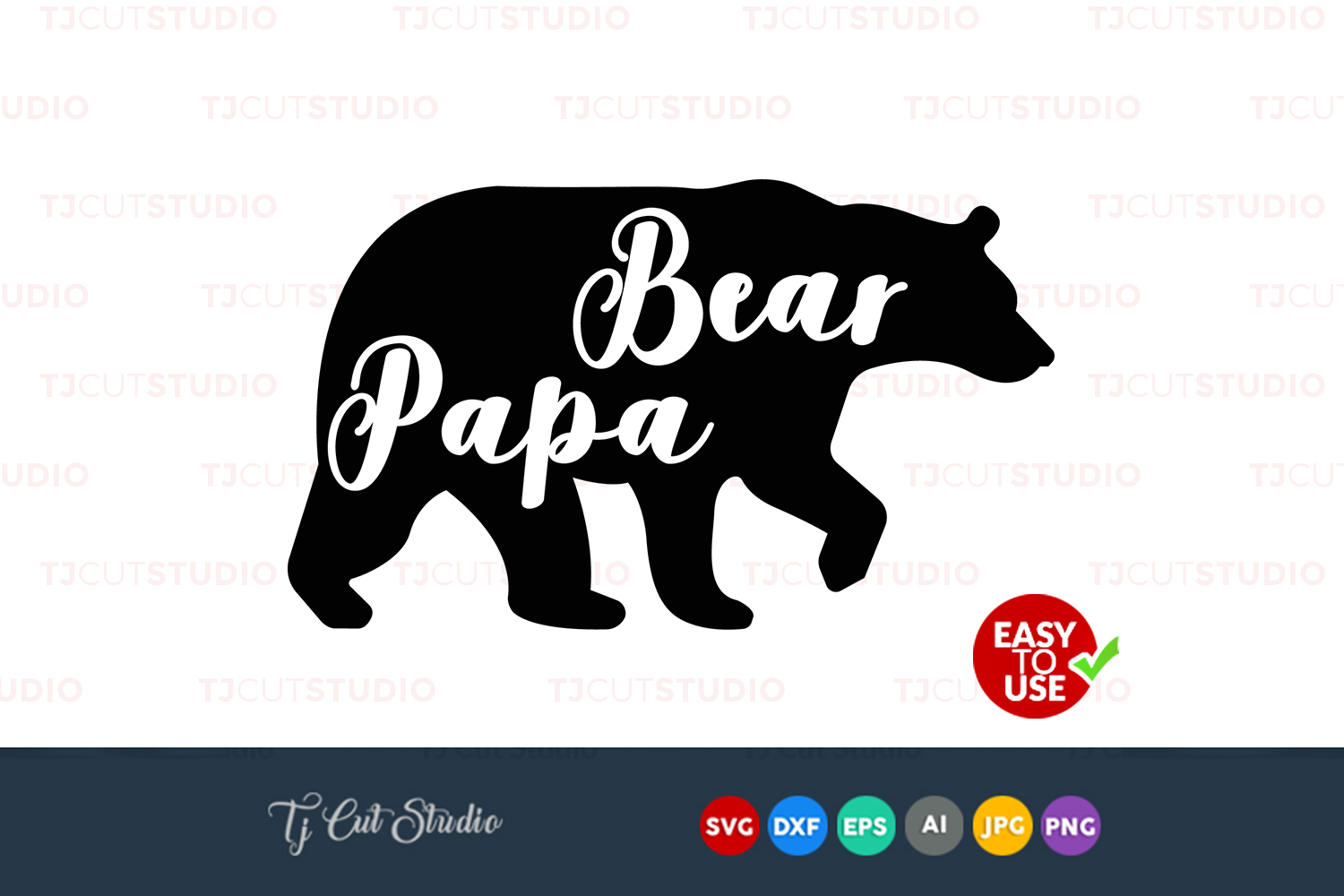Papa bear svg, papa bear, bear svg, Files for Silhouette Cameo or Cricut, Commercial & Personal Use. example image 1
