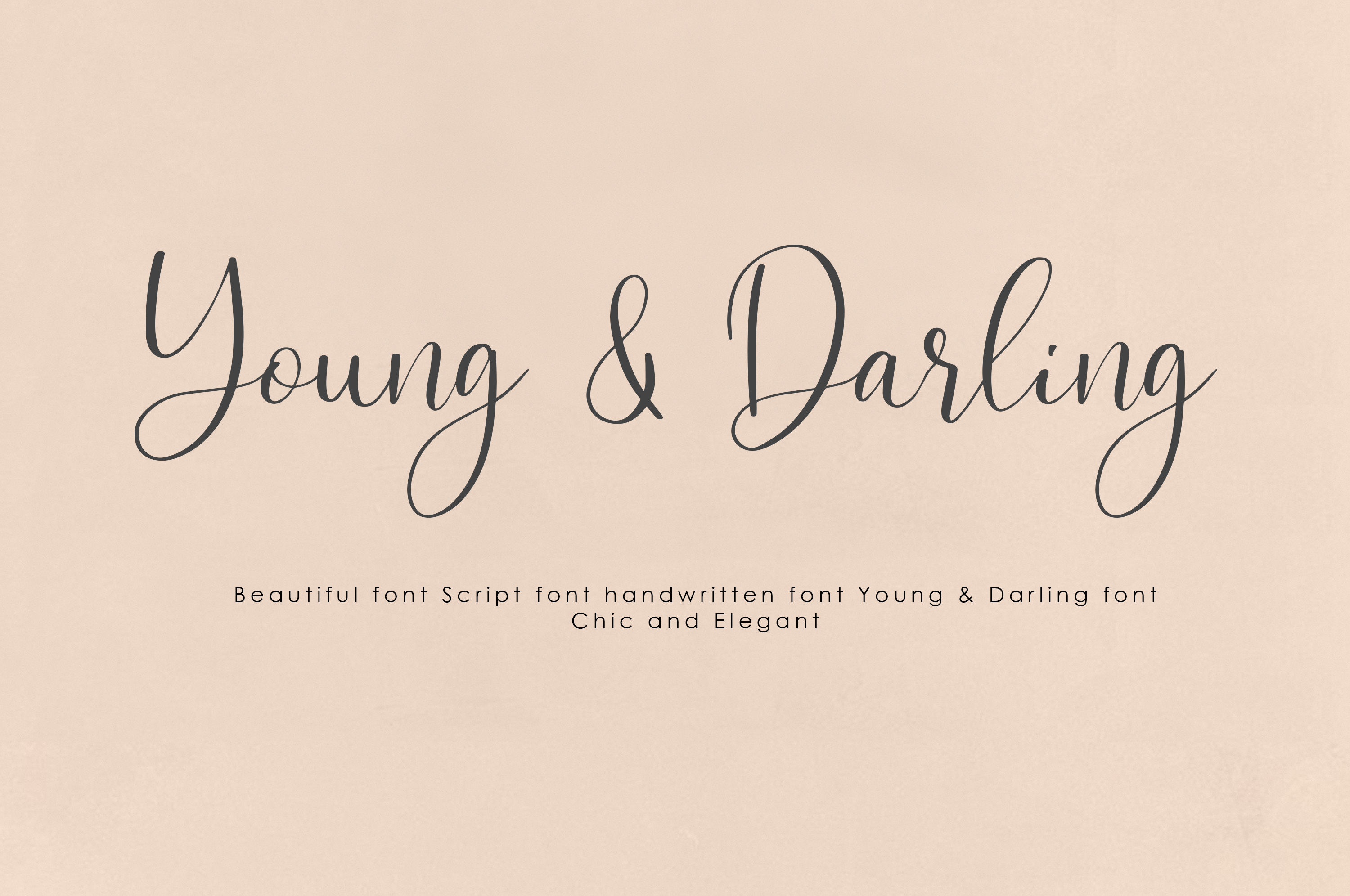 Young & Darling Font example image 1