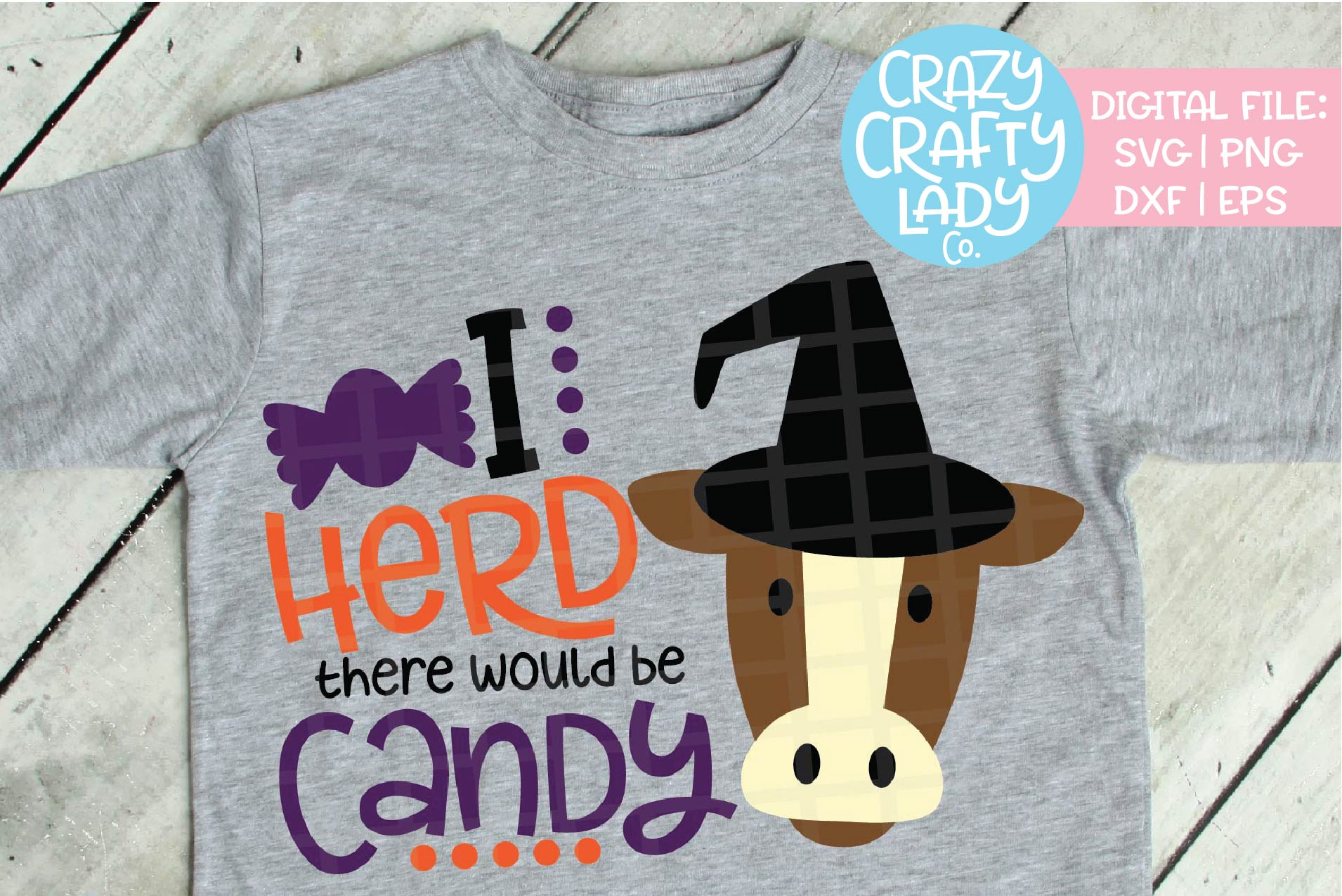 Halloween Cow SVG DXF EPS PNG Cut File example image 1