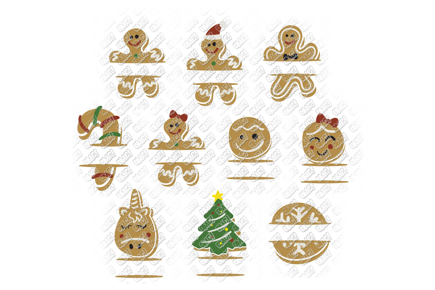 Christmas Cookies SVG Bundle in SVG, DXF, PNG, EPS, JPEG example image 7