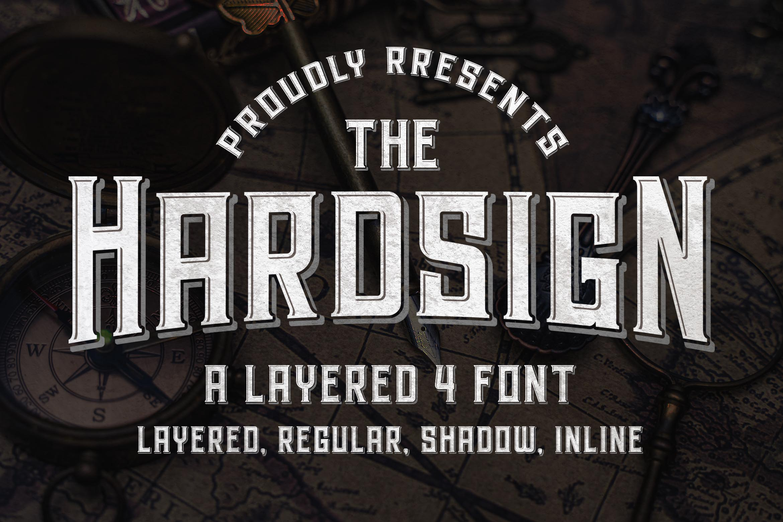 Hardsign - Layered Vintage Font example image 1