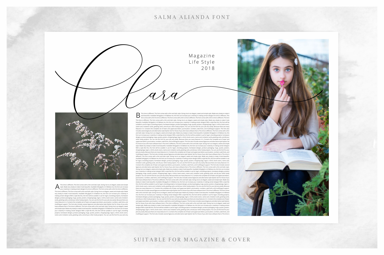 Salma Alianda - Elegant Script Font  example image 7