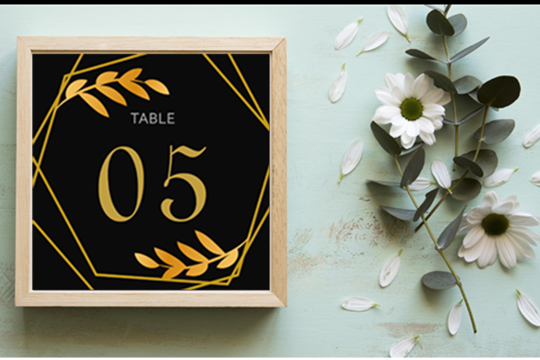 Elegant Golden Leaf Wedding Invitation Kit example image 2