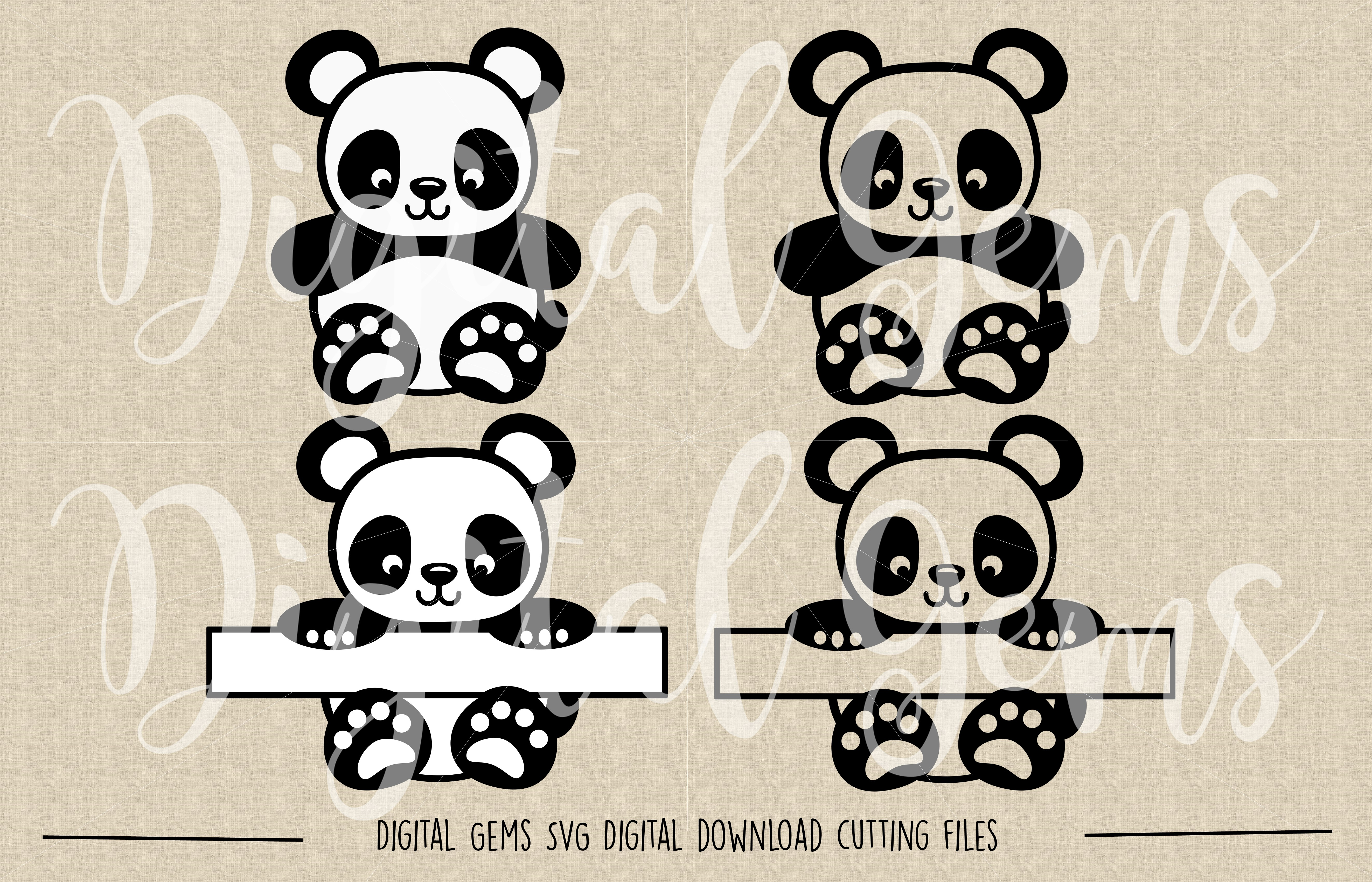 Panda SVG / DXF / EPS / PNG Files example image 2