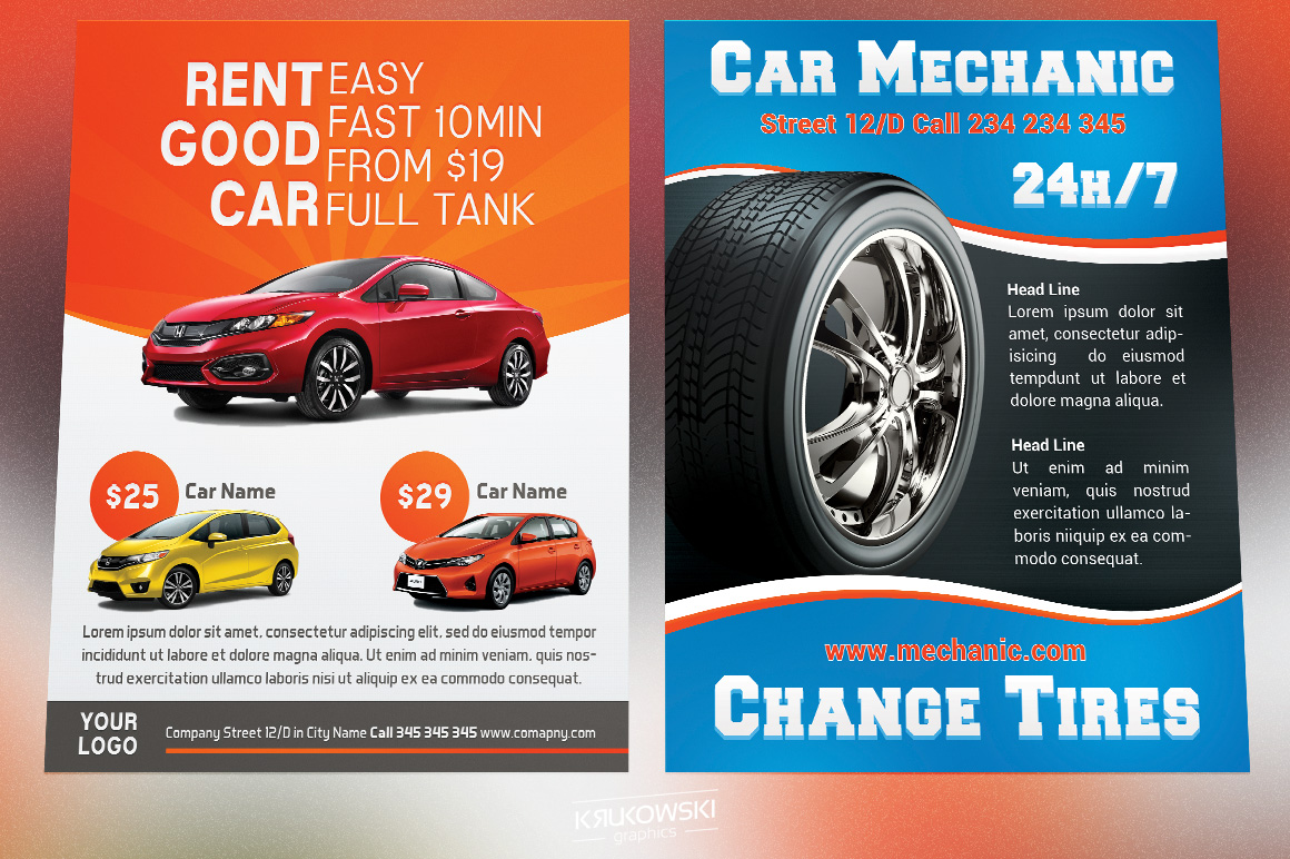 Cars Flyers Bundle example image 2