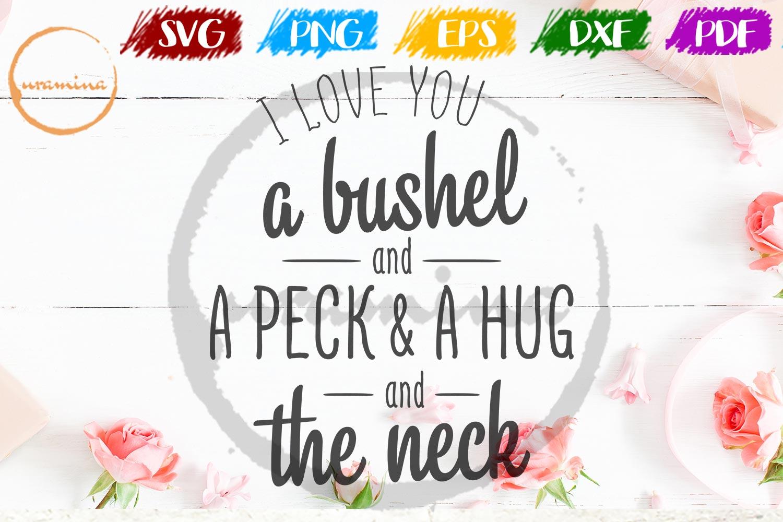 I Love You A Bushel Valentine SVG PDF PNG example image 1
