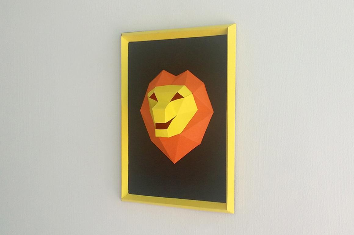 DIY Lion Frame - 3d papercraft example image 2